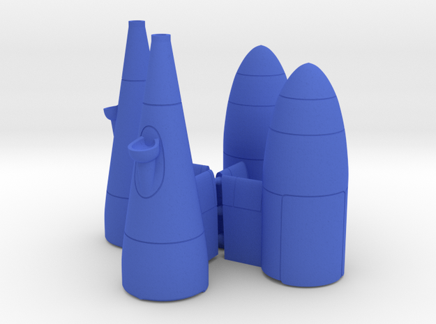 KC-130 Refueling Pod x2 in Blue Processed Versatile Plastic: 1:48 - O