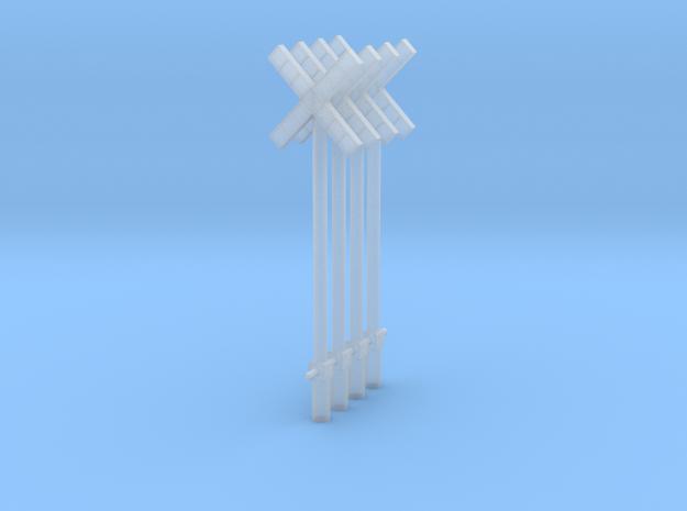 croix de st andré Simple SNCB MNSB epoque 5 4 piec in Smooth Fine Detail Plastic: 1:87 - HO