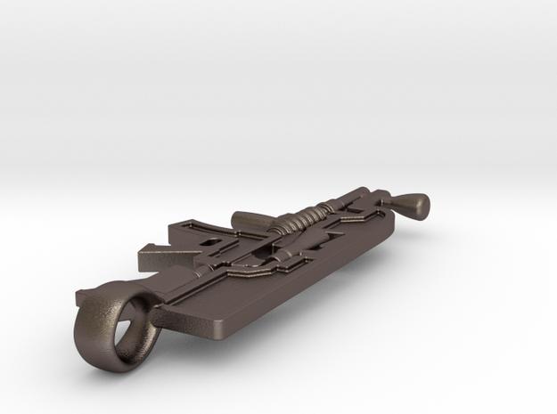 Warfighter Scuba - Pendant in Polished Bronzed-Silver Steel