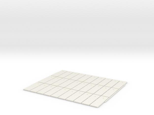 plaque beton 34 sur 11 HO 30 pièce in White Natural Versatile Plastic: 1:87 - HO