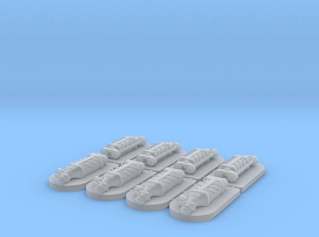 Set of 8 - Supercharger Standalone in Smooth Fine Detail Plastic