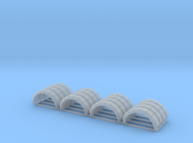 Set of 16 - #A Wheel flares/Arches 1mm x12mm in Smooth Fine Detail Plastic