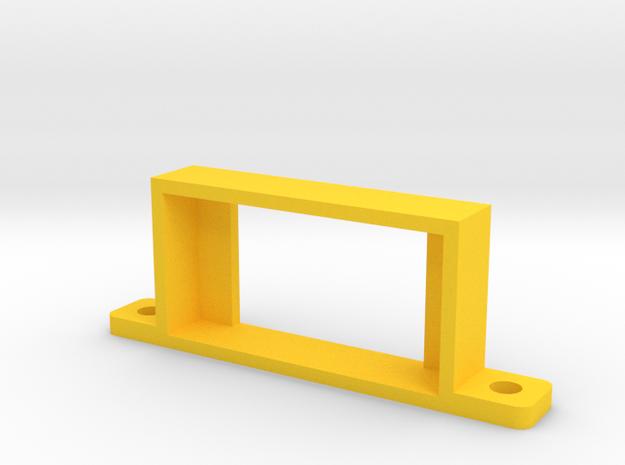USOPTL4 Retention Bracket in Yellow Processed Versatile Plastic