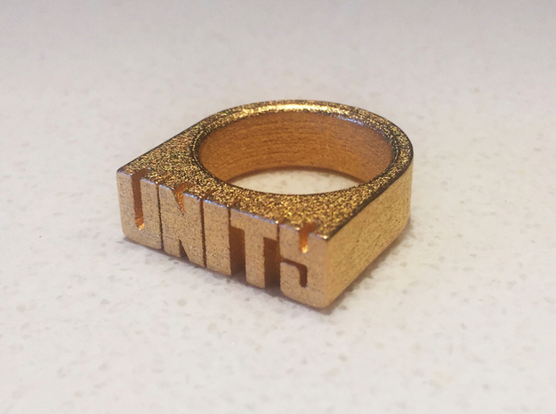 13.3mm Replica Rick James 'Unity' Ring in Polished Gold Steel