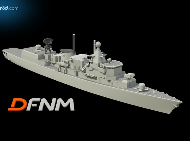 Kortenaer Class (Early) in White Natural Versatile Plastic: 1:700