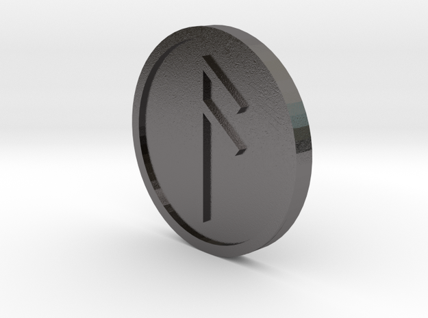 Aesc Coin (Anglo Saxon) in Polished Nickel Steel