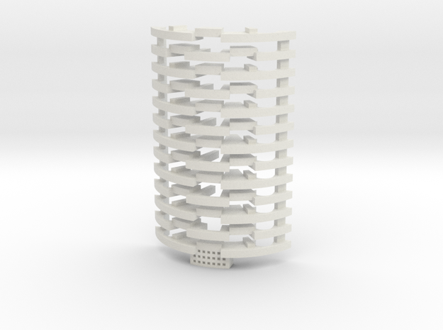 Heat Sink Fins for Rudy's Crystal Chamber (Full Le in White Natural Versatile Plastic