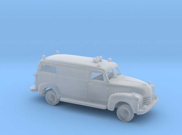 1/160 1947-54 Chevrolet Ambulance Kit in Smooth Fine Detail Plastic