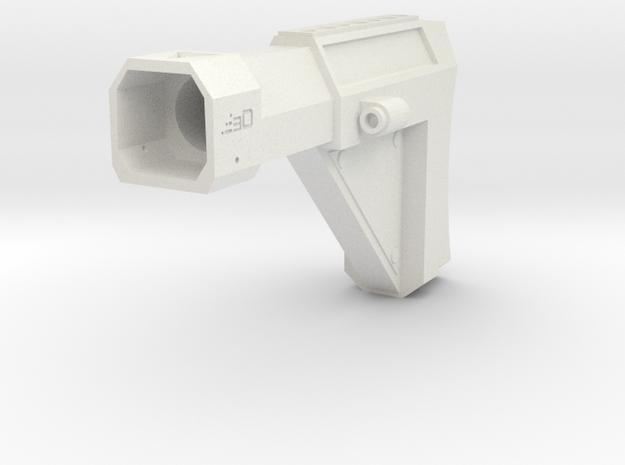 Laser Pulse Rifle Shoulder Stock for Nerf Modulus in White Natural Versatile Plastic