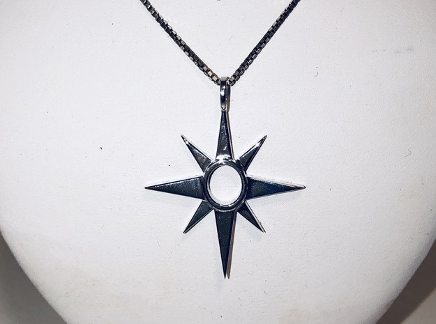 The Traveler Pendant in Polished Silver