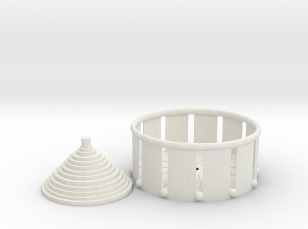 Zoetrope Fidget Spinner in White Natural Versatile Plastic