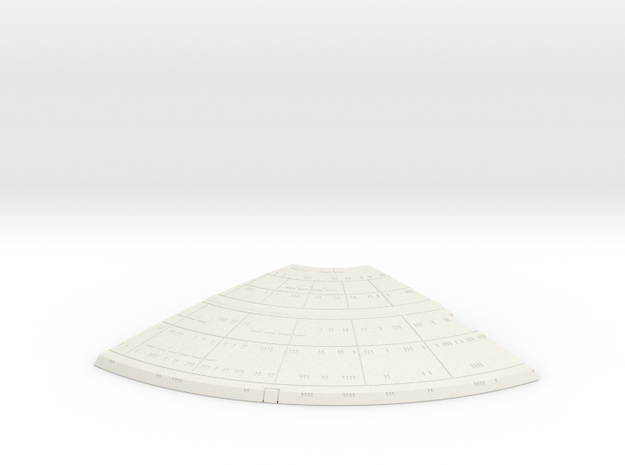 1/1400 Ambassador proposal Right Upper Saucer (Fro in White Natural Versatile Plastic