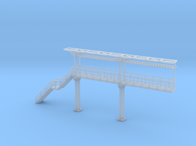 N Scale Tank Car loading Platform 2+stairs