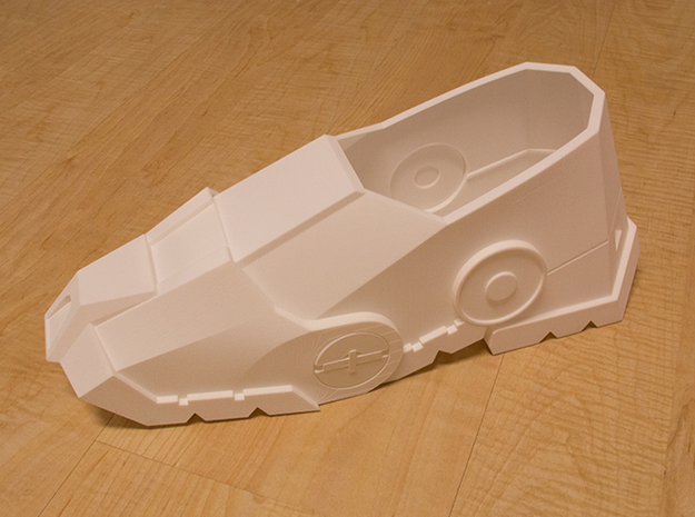Iron Man Boot (Toe NO sole) Part 2 of 4 3d printed Actual 3D print using Strong & Flexible Plastic (Toe with whole Boot