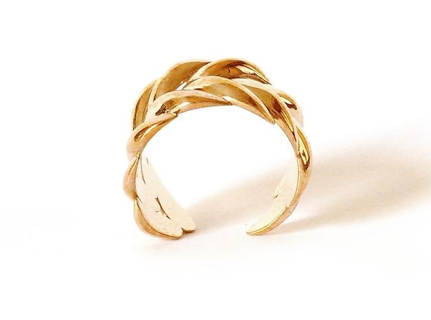 SPIGA ring 3d printed Polished Bronze