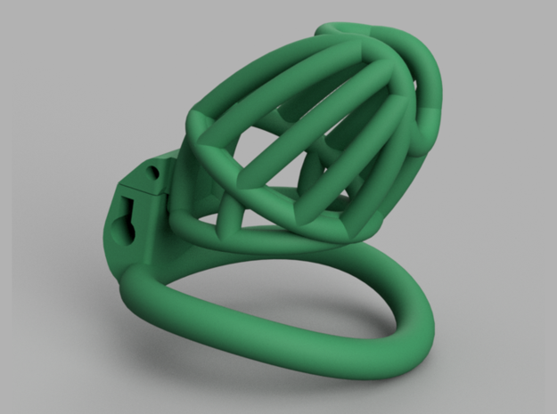 Cherry Keeper Cage - Standard in Green Processed Versatile Plastic