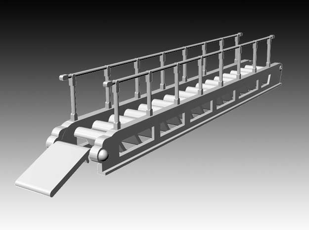 accommodation ladder S steps - 1:50 in White Natural Versatile Plastic