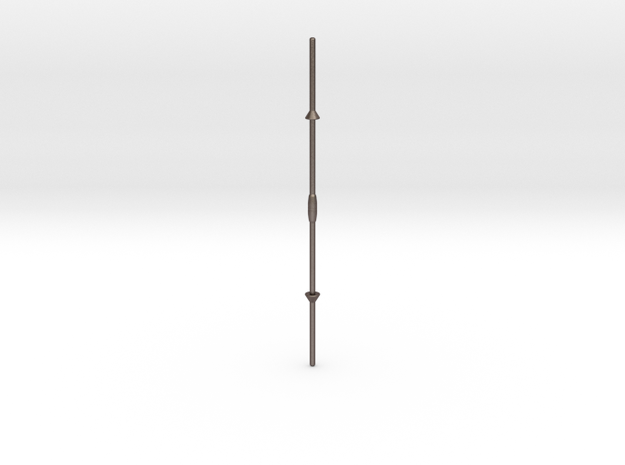 Masassi lance in Polished Bronzed-Silver Steel