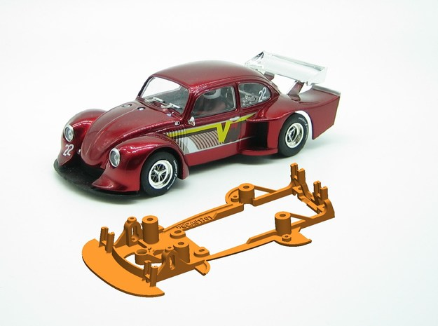 PSCA01701 chassis for Carrera VW Käfer Gr. 5 in White Natural Versatile Plastic