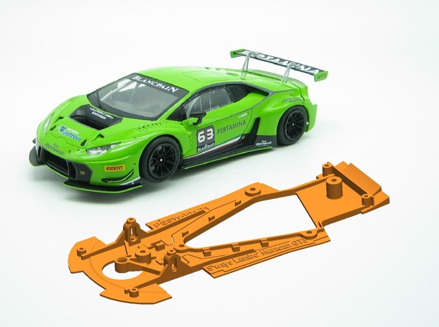 PSSW00101 Chassis for Sideways Lambo Huracan GT3 in White Natural Versatile Plastic