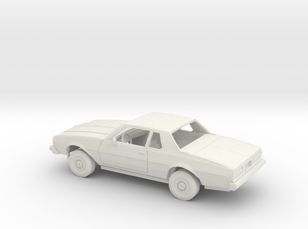 1/25 1977-78 Chevrolet Impala Coupe Kit in White Natural Versatile Plastic