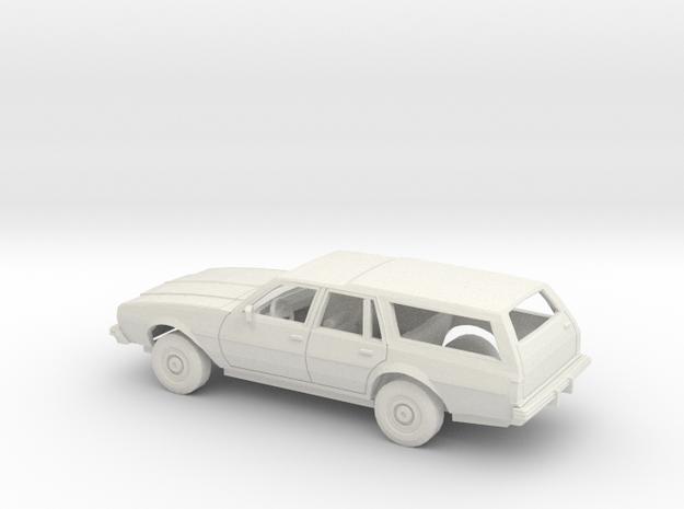 1/25 1977-78 Chevrolet Impala Station Wagon Kit in White Natural Versatile Plastic