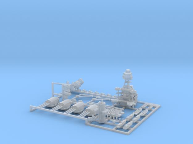 1/1200 USS Arizona Detail Set (NO BLAST BAGS) in Smooth Fine Detail Plastic