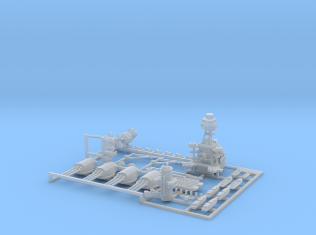 1/1200 USS Arizona Detail Set (WITH BLAST BAGS) in Smooth Fine Detail Plastic