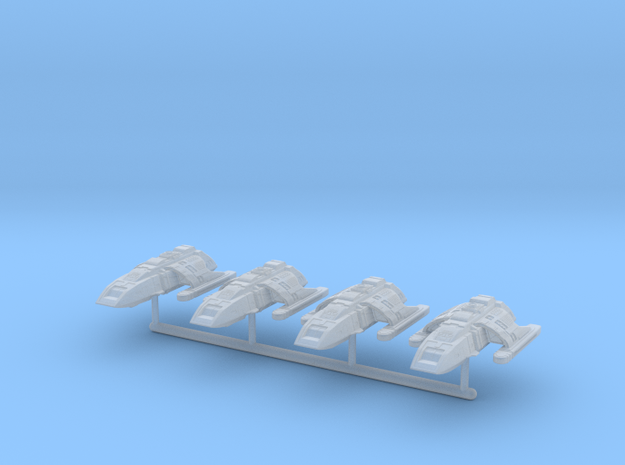 1/1000 Run-Around Shuttle 4pk in Smooth Fine Detail Plastic