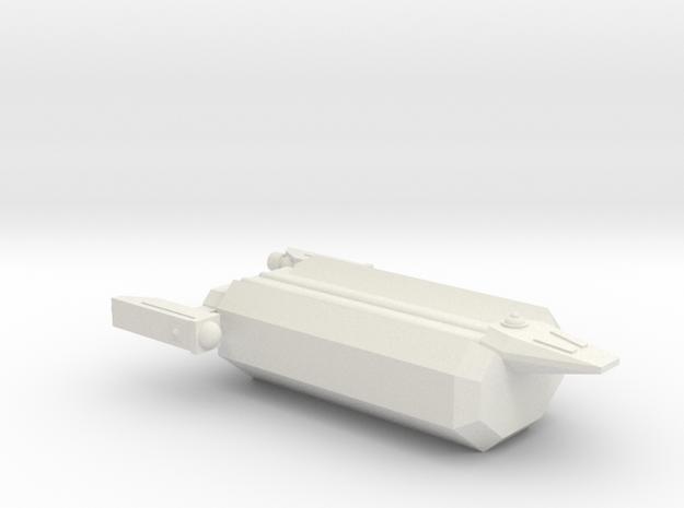 Omni Scale Hydran Small Freighter (Class-I) CVN in White Natural Versatile Plastic