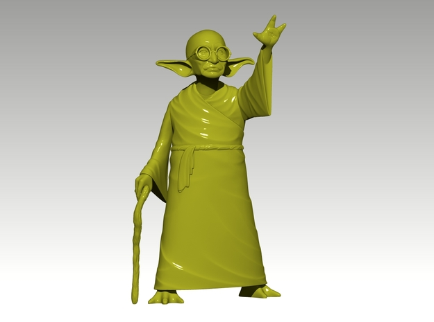 YoGandhi 3 (non-posable) 3d printed Zbrush generated preview.