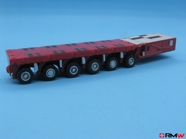 HO/1:87 spmt 6 axle with ppu in Smooth Fine Detail Plastic