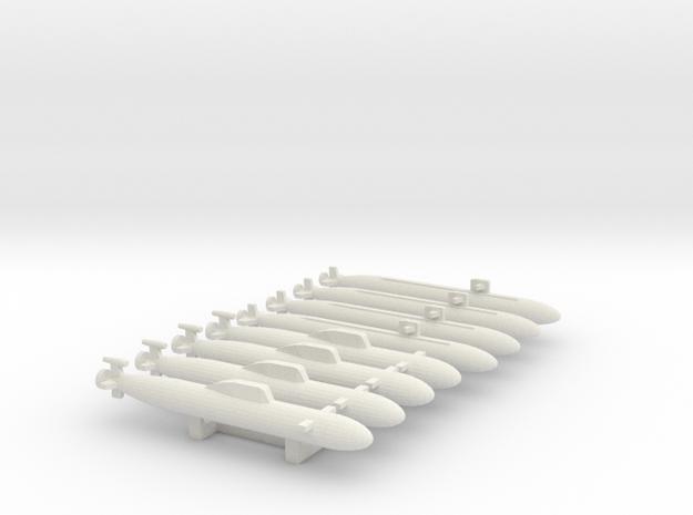 """Unknown"" SUB MARKER set 3 in White Natural Versatile Plastic"