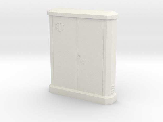 1/87 sub distributor PTT / sous répartiteur PTT in White Natural Versatile Plastic