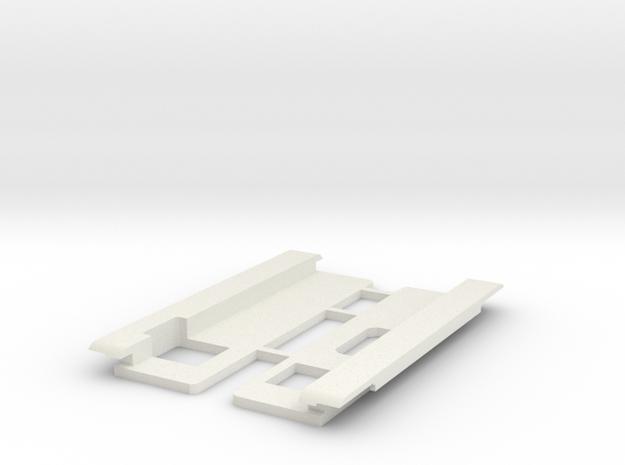 USB Sidecar for MiSTer Case Panels (2/2) (v1.2) in White Natural Versatile Plastic