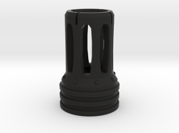 Flame Suppressor for Nerf N-Strike Modulus in Black Natural Versatile Plastic