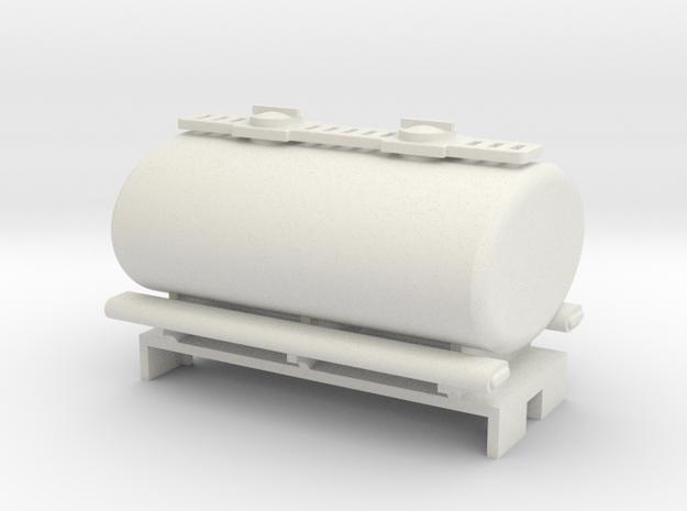 009 2 axle tank wagon in White Natural Versatile Plastic
