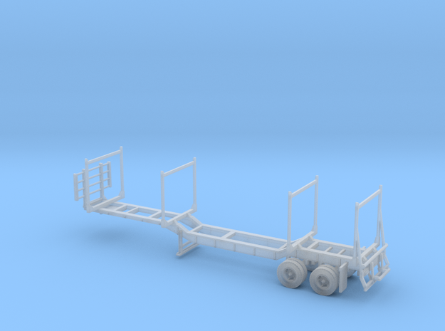 Timber Trailer Drop Center FUD With Wheels 1-87 HO in Smooth Fine Detail Plastic