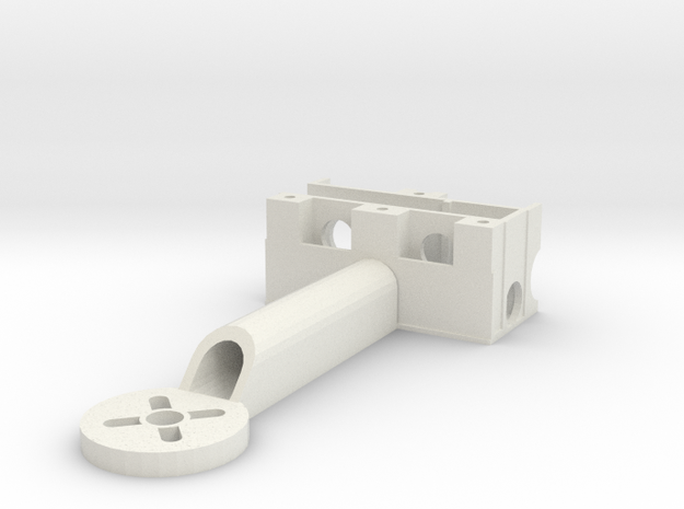 M-mount-ARM in White Natural Versatile Plastic