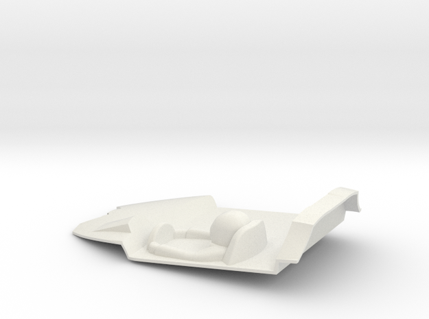 1:32 LTM Cockpit  (for LTM Slot Car model) in White Natural Versatile Plastic