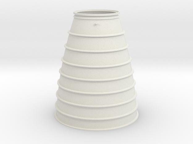 1:1 Apollo RCS Nozzle Skirt in White Natural Versatile Plastic