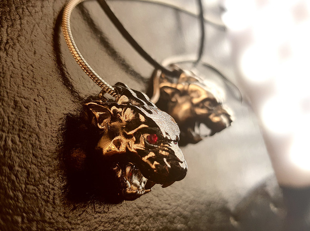 Panther Pendant in Antique Silver