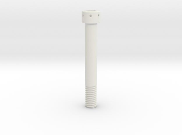 1:1 Apollo RCS Oxidizer Solenoid Attach Bolt in White Natural Versatile Plastic