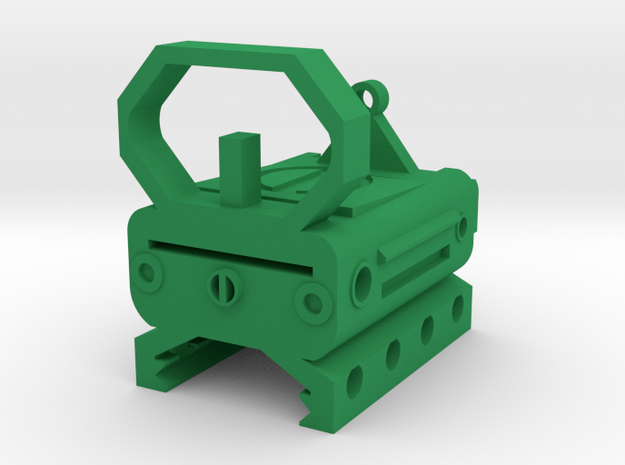 Tactical X-Ray Sight for Picatinny Rail in Green Processed Versatile Plastic