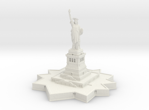 Statue of Liberty 1/1000 in White Natural Versatile Plastic