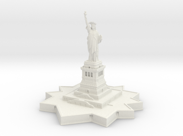 Statue of Liberty 1/1200 in White Natural Versatile Plastic