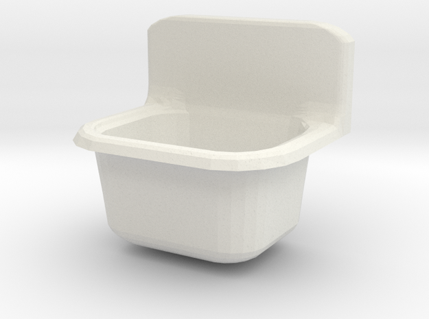 Small trough sink in White Natural Versatile Plastic