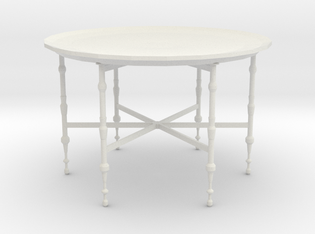 Moroccan tray table in White Natural Versatile Plastic