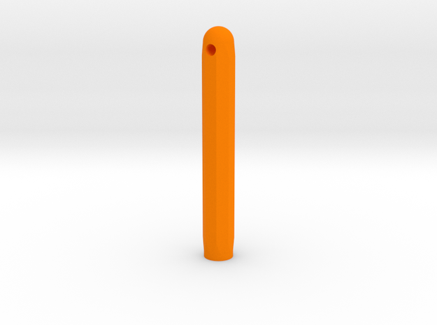 Varita Pen Body 8 sides short in Orange Processed Versatile Plastic