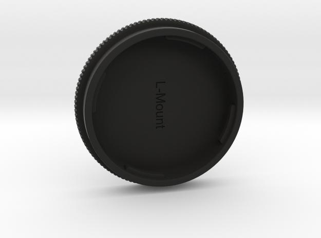 L-Mount Lense Cap in Black Natural Versatile Plastic